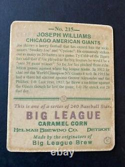 R319-Helmar BIG LEAGUE #215 Joseph Smokey Williams, Chicago American Giants