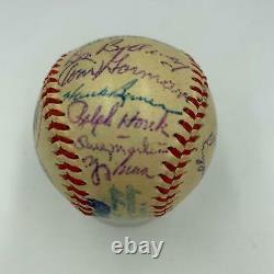 Rare 1953 New York Yankees Team Signed Mini American League Harridge Baseball