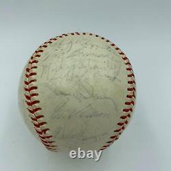 Rare 1967 Detroit Tigers Team Signed American League Baseball 34 Sigs JSA COA