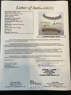 Rare Drazen Petrovic Single Signed Autographed American League Baseball JSA COA