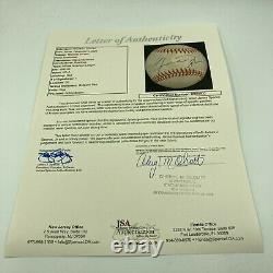 Rare Michael Jordan Signed 1990s American League Baseball Bold Autograph JSA COA