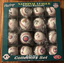 Rawlings National/American League Replica Baseball Collector 32 Balls FREE SHIP