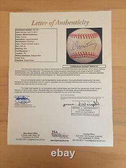 Russian President Mikhail Gorbachev signed American League Baseball JSA LOA
