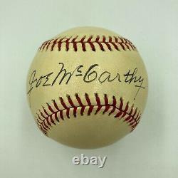 Stunning Joe Mccarthy Single Signed American League Baseball With JSA COA