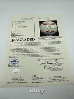 Stunning Red Grange Single Signed American League Baseball JSA COA Graded MINT 9