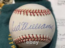 TED WILLIAMS Autographed Signed American League Baseball With ORIGINAL BOX UDA