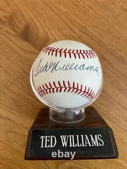Ted Williams Auto Autograph Signed American League AL Rawlings Baseball PSA JSA