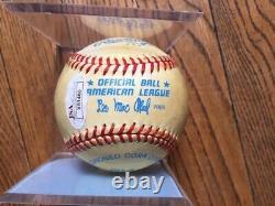 Ted Williams Autographed American League Baseball, Lee MacPhail JSA PSA