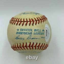 Ted Williams Signed Official American League Baseball With JSA COA