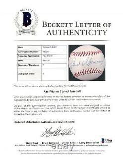 The Finest Paul Waner Single Signed American League Baseball With Beckett COA