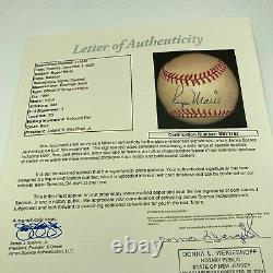 The Finest Roger Maris Single Signed Official American League Baseball JSA COA