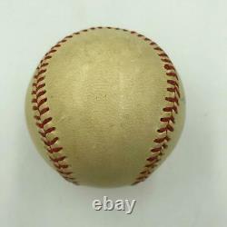 Thurman Munson Single Signed Autographed American League Cronin Baseball JSA COA