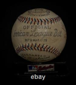 Ty Cobb Autographed Baseball Reach American League Green Ink Museum Replica