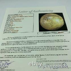Ty Cobb Joe Dimaggio & Mickey Cochrane Signed American League Baseball JSA COA