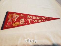 VERY RARE 1965 Minnesota Twins American League Champions Red Scroll Pennant WOW