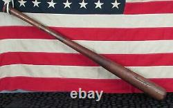 Vintage 1920s Edw. K. Tryon Co. Wood Baseball Bat American League 34 Model No. 64
