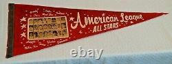 Vintage Full Size Felt Baseball Pennant 1965 All Star Game American League Photo