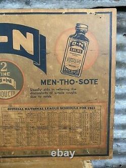 Vtg 1941 American National League Baseball Schedule Drug Store Advertising Sign