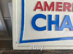 Vtg RARE 1966 Baltimore Orioles American League Champions Blow Mold Plastic Sign